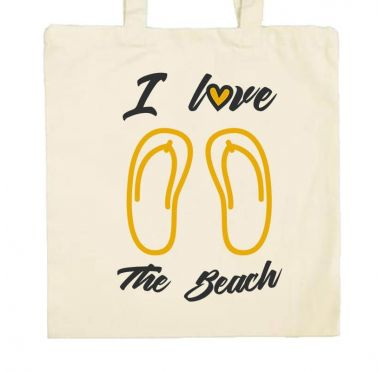 Sac en tissu I love the beach