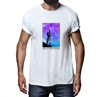 T shirt Travel all around the world Homme (Versions Fire et Blue)