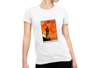 T shirt Travel all around the world Femme versions Fire