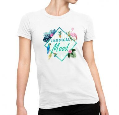 T shirt Tendance Tropical mood Femme