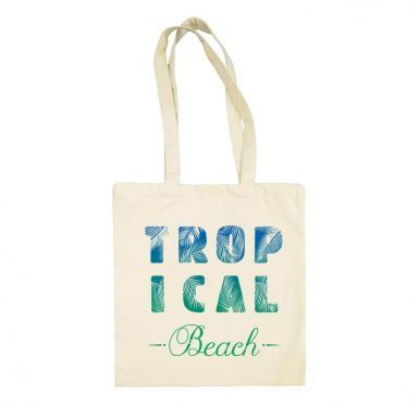 Tote bag Tropical Beach grandes anses