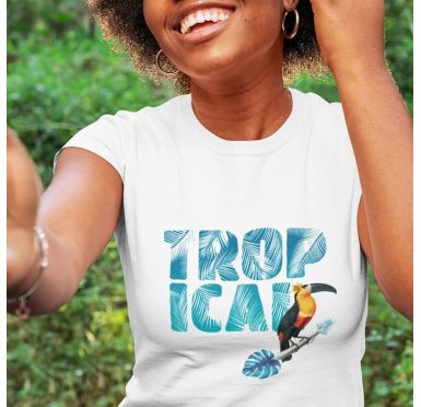 Zoom T shirt Tropical femme