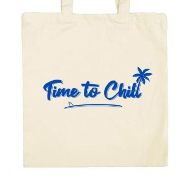 Zoom sur le sac de plage Time to chill