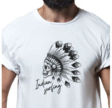 T shirt Indian Surfing Homme
