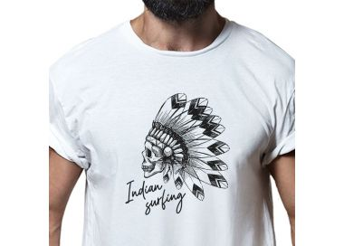 Zoom t-shirt Indian Surfing Homme