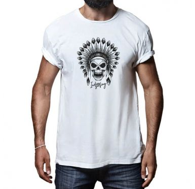 T shirt Indian Surfing Face Homme