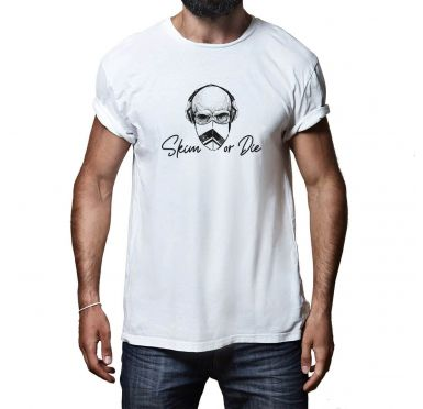 T shirt Skim or die Homme