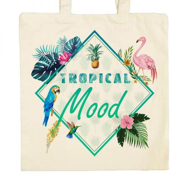 Zoom Sac en tissu Tropical Mood