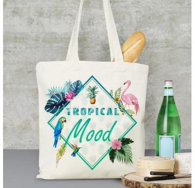 Sac de plage, marché, ville Tropical Mood