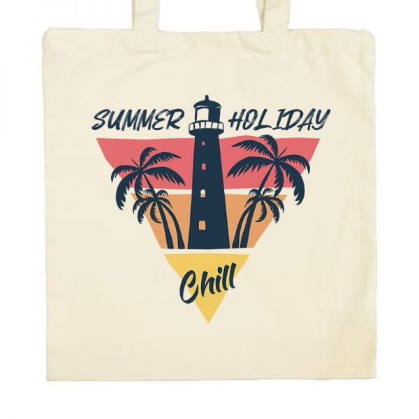 Zoom Tote Bag summer holiday chill