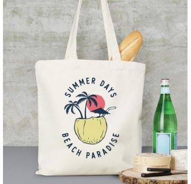 Exemple Tote Bag Coconut beach paradise