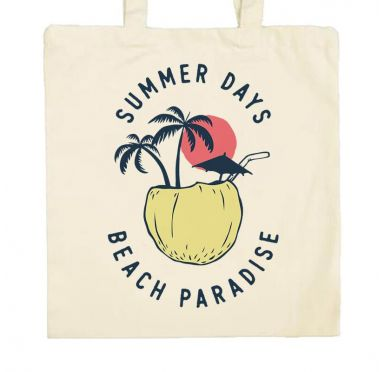 Zoom Tote Bag Coconut beach paradise