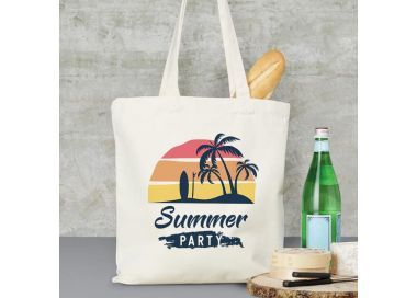 exemple Sac de plage, marché, ville Summer party