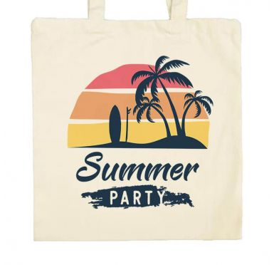 Sac de plage, marché, ville Summer party