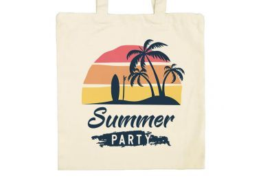 Zoom Sac de plage, marché, ville Summer party