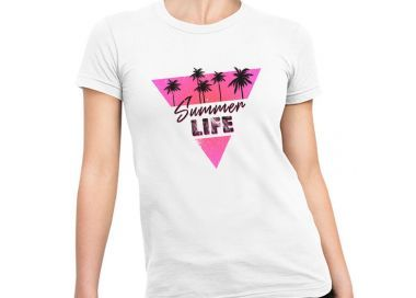 Zoom t-shirt Summer Life triangle femme
