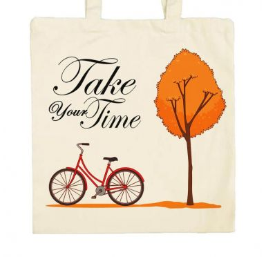 Zoom Sac en tissu plage, marché, ville Take your Time