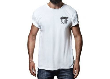 T shirt Surfing Old Bike Homme