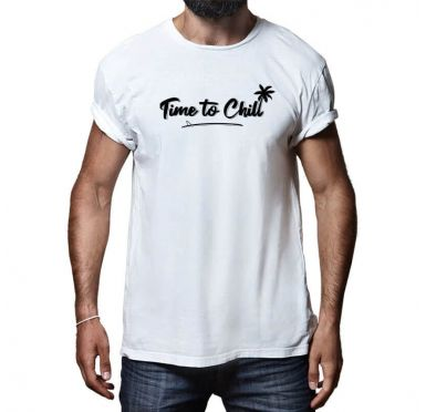 T shirt Time To Chill Surf Skimboard Homme