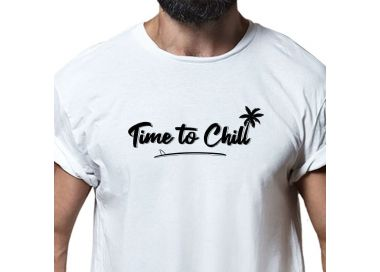 Zoom T shirt Time To Chill Surf Skimboard Homme