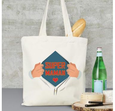Exemple Tote bag Super Maman