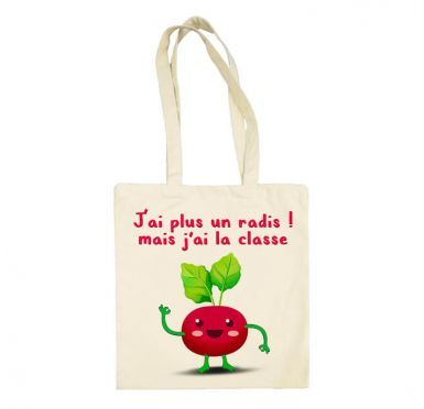 Tote bag J'ai plus un radis Radis