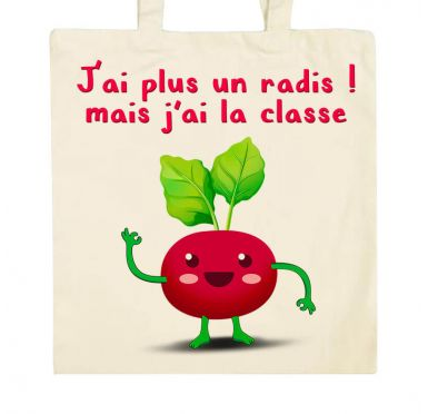 Zoom Tote bag J'ai plus un radis Radis