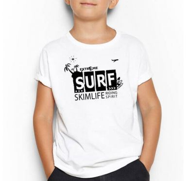 T shirt Surf Case Enfant