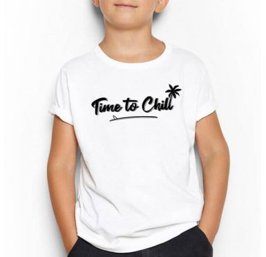 T shirt Time To Chill Surf Skimboard Enfant